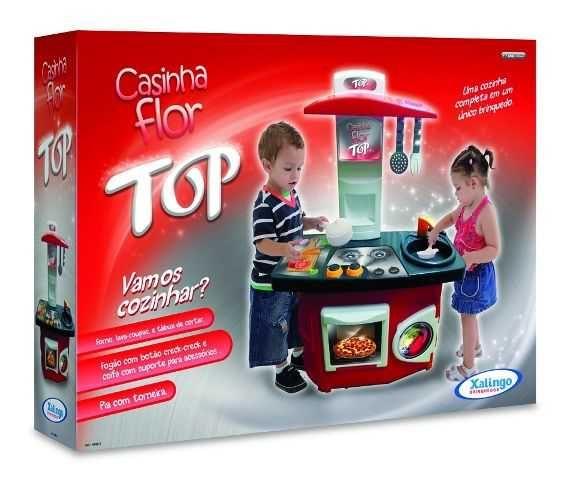 Brinquedo Xalingo Brincando De Casinha Cozinha Top Flor Na Papelaria