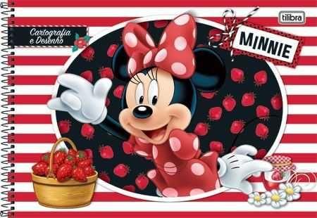 Caderno De Desenho 96fls Cpd Minnie Na Papelaria Mc Papeis