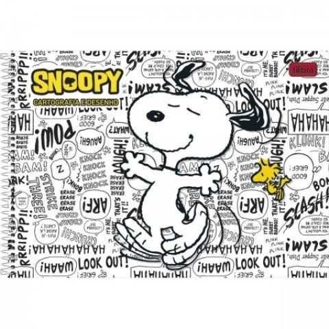 Caderno De Desenho 96fls Snoopy Na Papelaria Mc Papeis
