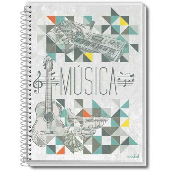 CADERNO DE MUSICA CPM 50FLS CREDEAL na Papelaria MC Papéis acab87cf653cb