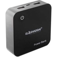 CARREGADOR DE BATERIA EL SHADDAI PORTATIL POWER BANK PRETO 6000MAH