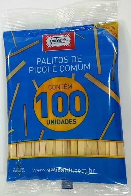 PALITO DE PICOLE GABOARDI PONTA QUAD. PCT C 100 na Papelaria MC Papéis e6cd98778a1b0